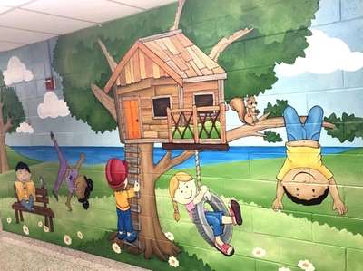 """""""Treehouse,"""" a preschool decoration designed by Donna Greenfield"""