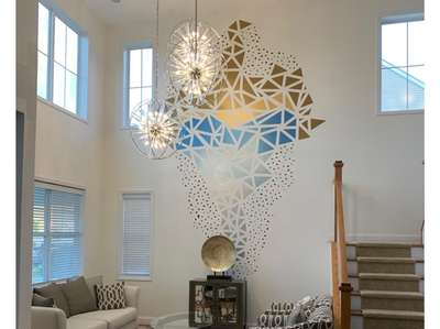 An abstract mural done by Talik White