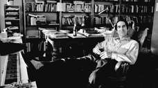 Philip Roth in his Kips Bay apartment.