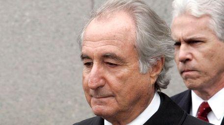 Former financier Bernie Madoff exits federal court in