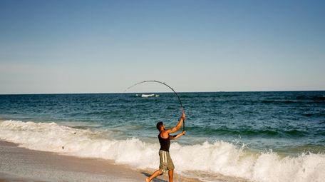 Chris Stefanou casts off on the shores of