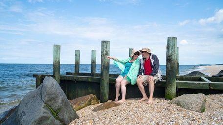 Elizabeth and Fred Rosenberg from Aquebogue enjoy a