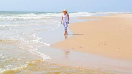 Henny Rodriguez from Bridgehampton finds serenity during a