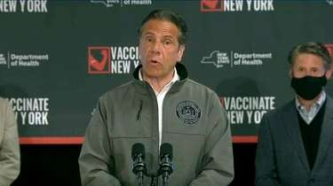 Gov. Andrew M. Cuomo, at Belmont Park Wednesday