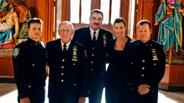 """Blue Bloods"" cast members Will Estes, from left,"