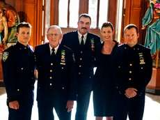 """""""Blue Bloods"""" cast members Will Estes, from left,"""