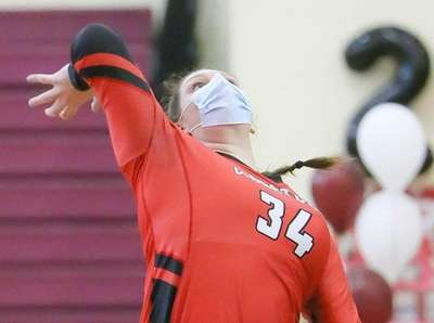 Connetquot's Kylie Wixted (34) plays the ball in