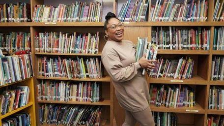 Salamah Adjoua-Mullen,Uniondale school librarian, was awarded a New