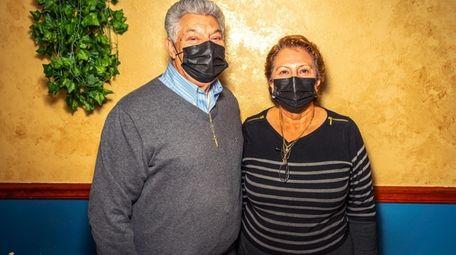 Felipe and Blanca Villatoro at El Tazumal in