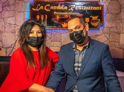 Elvin and Elizabeth Paulino at La Candela in