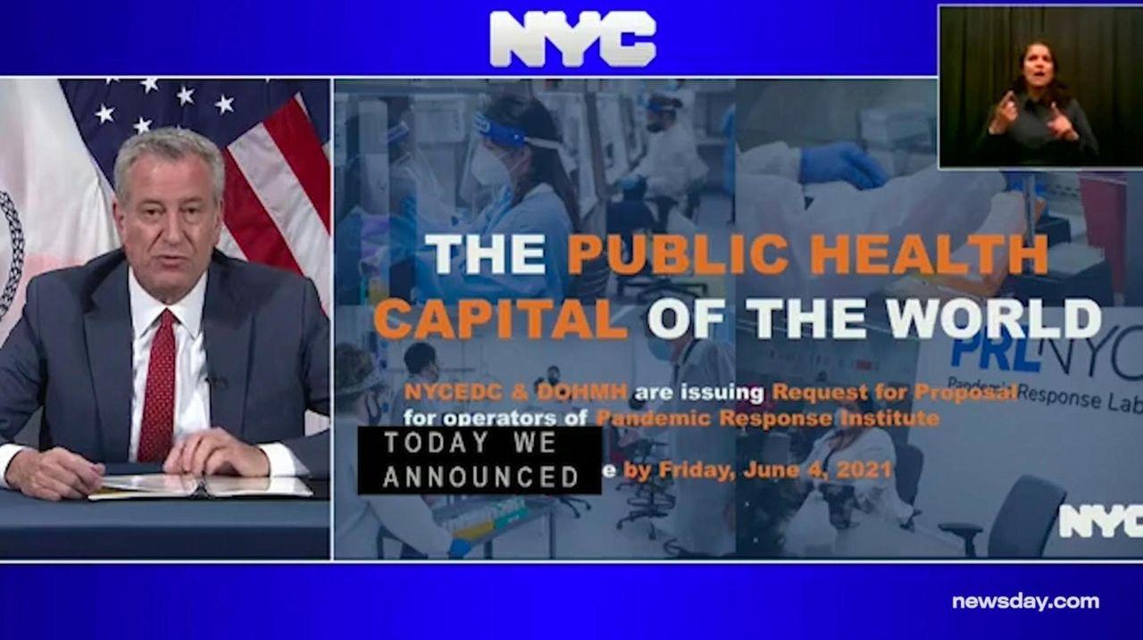 On Thursday, Mayor Bill de Blasio said NYC