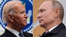 President Joe Biden and Russian leader Vladimir Putin.