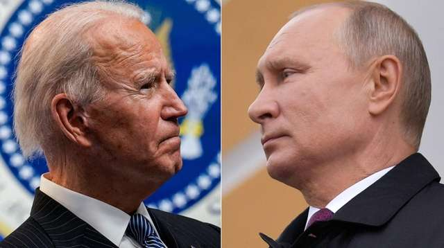 President Joe Biden and Russian leader Vladimir Putin.
