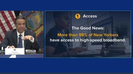 Gov. Andrew M. Cuomo delivered a livestreamed news