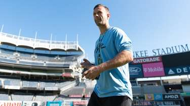 New York City FC coach Ronny Deila appears