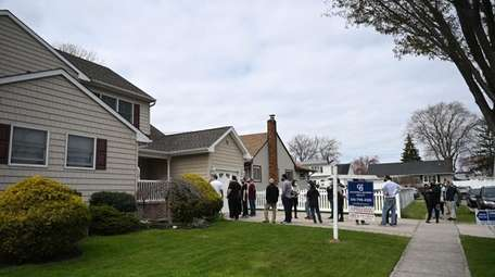 The line outside an open house in Bethpage