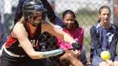 Mineola's Valerie Fischer bunts to load the bases