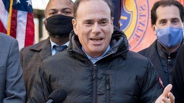 New York State Democratic Chairman Jay Jacobs speaks