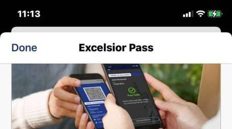 New York State's Excelsior Pass app provides digital
