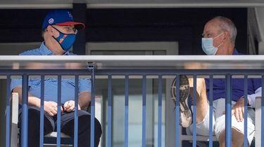 Mets owner Steve Cohen (left) and general manager