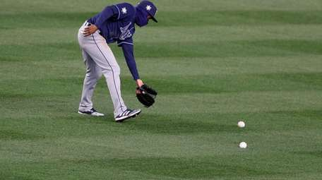 Manuel Margot #13 of the Tampa Bay Rays