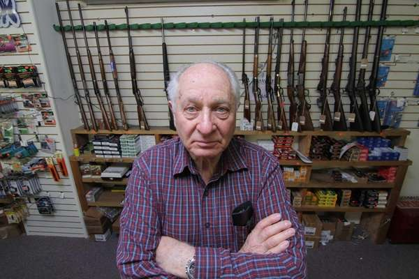 Burt Benowitz, owner of Bensons Gun Shop in