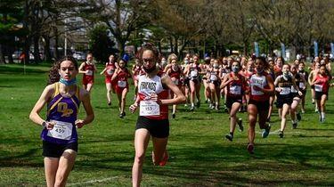 Greta Flanagan of Oyster Bay is trailed by