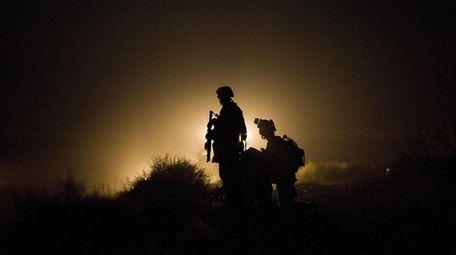 U.S. Marines in July 2009 in Afghanistan's Helmand