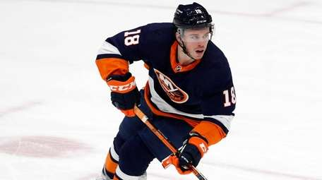 Anthony Beauvillier of the Islanders skates against the