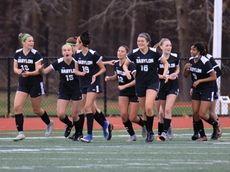 Babylon celebrates after scoring during the Suffolk girls