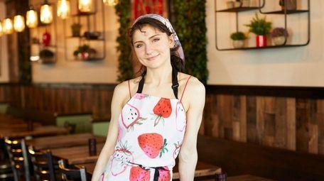 Organic Corner chef Viktoria Hermann at the restaurant
