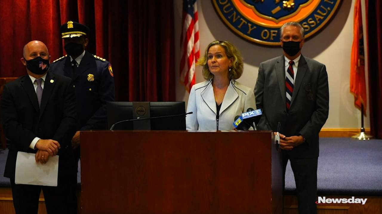 On Monday Nassau County Executive Laura Curran and