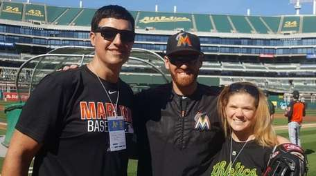 From left, Michael Fisher, Dan Straily and Tara