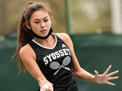 First doubles team player, Alex Ho of Syosset