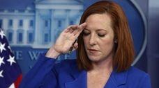 White House press secretary Jen Psaki at a
