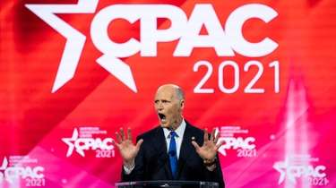 Sen. Rick Scott (R-Fla.) at the Conservative Political