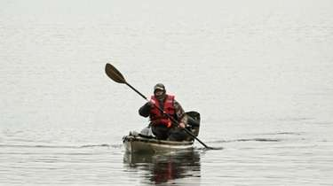 Kayaking along the Nissequogue River on Jan. 7