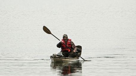 Kayaking along the Nissequogue River on Jan. 7