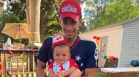 Daunte Wright and his son, Daunte Jr., at