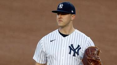 Jameson Taillon #50 of the Yankees stands on