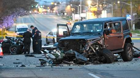 Scene of deadly crash on Route 25A and
