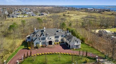 The house overlooks 43 acres of private nature