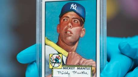 """A  """"Mint 9"""" 1952 Topps Mickey Mantle"""