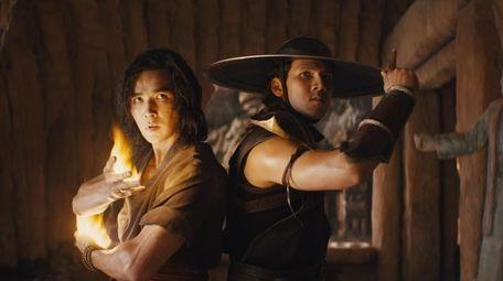 Ludi Lin portrays Liu Kang, left, and Max