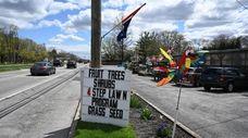 A garden center on Route 231 in Dix