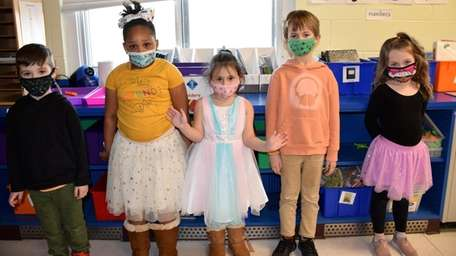 In East Patchogue, kindergartners at Verne W. Critz
