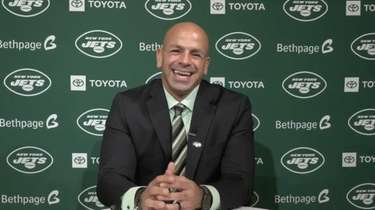 Jets head coach Robert Saleh appears at his