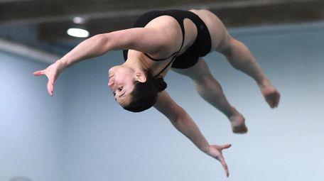 Jillian Rastello of Sayville-Bayport-Blue Point competes in the