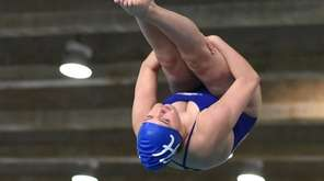 Jessica Magee of Hauppauge-Smithtown competes in the Suffolk