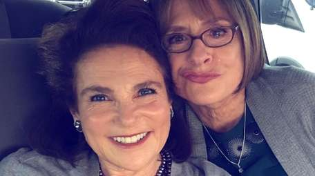 A selfie of Tovah Feldshuh and her friend